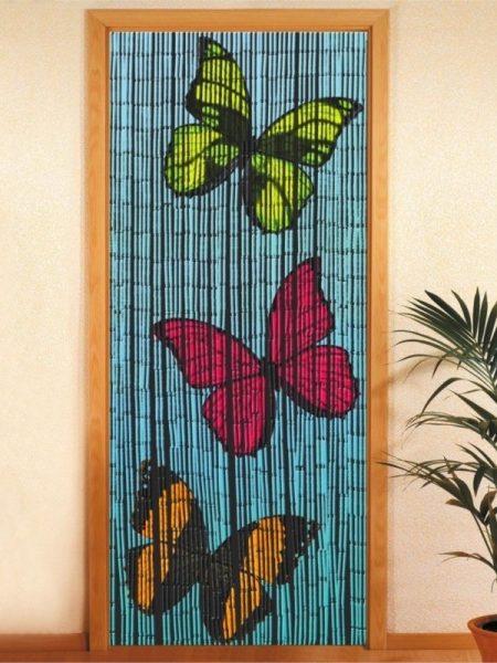Draperie bambus cu fluturi