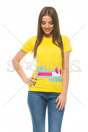 Tricou Baby Loading Yellow
