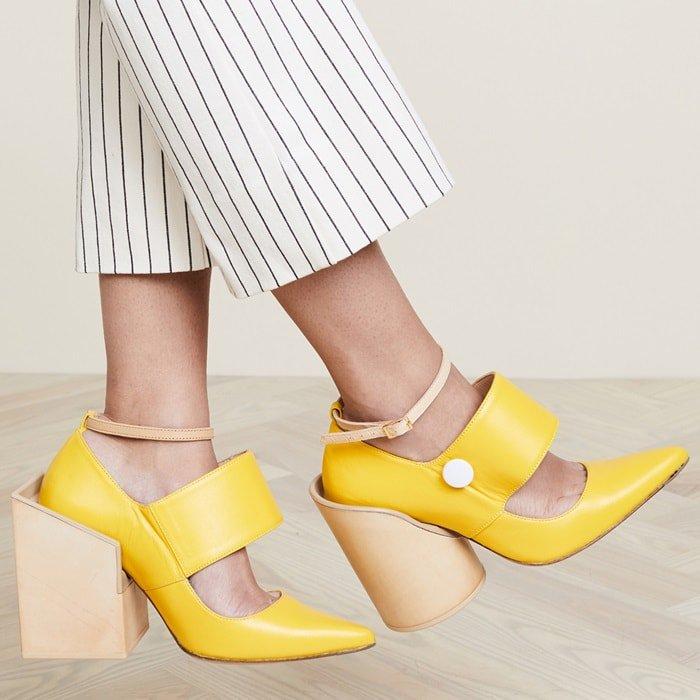 pantofi cu tocuri supradimensionale