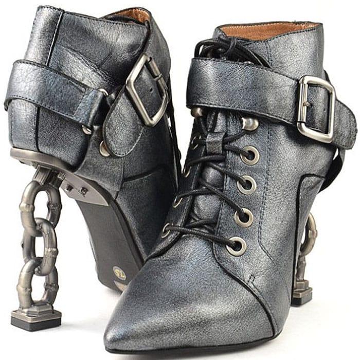 pantofi tocuri legate