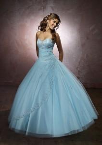 Rochie de mireasa albastra