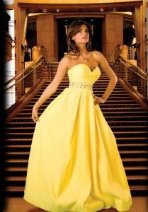 rochie de mireasa galbena