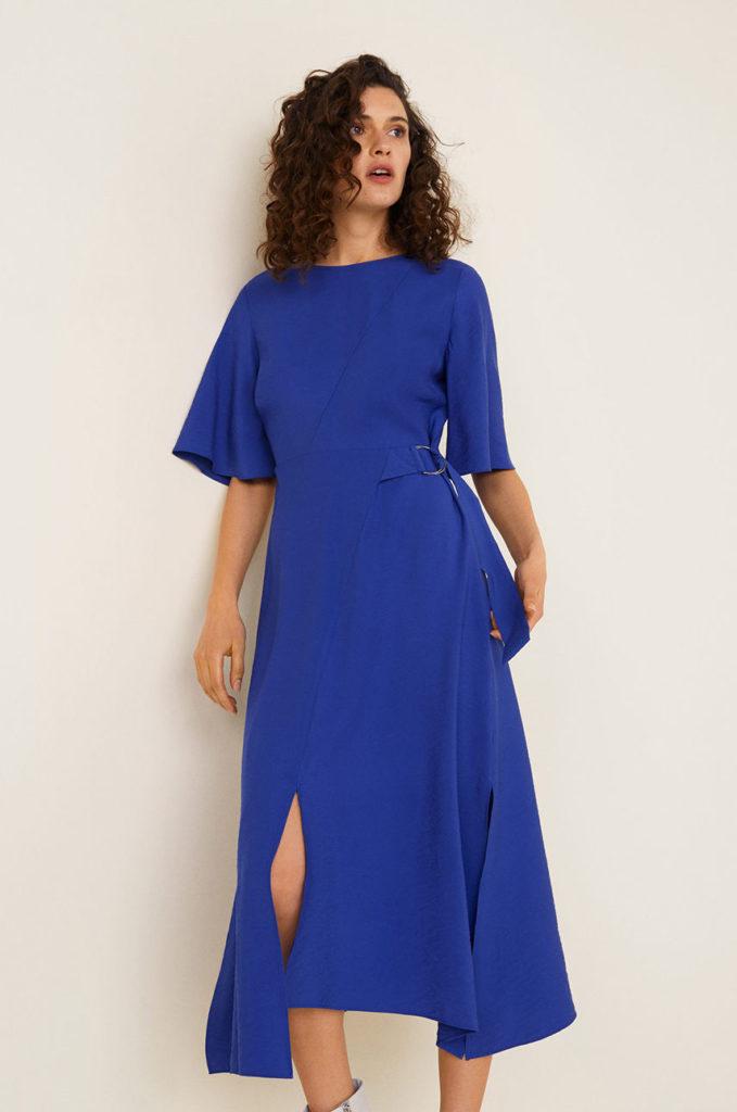 rochie Mango albastra pentru seara