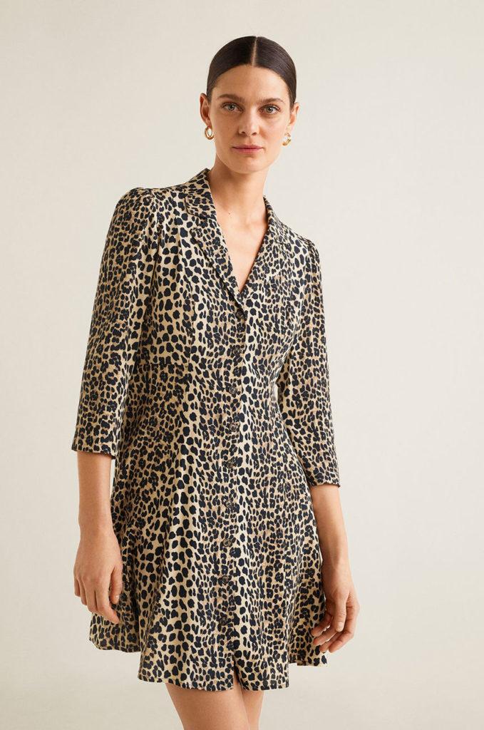rochie animal print scurta