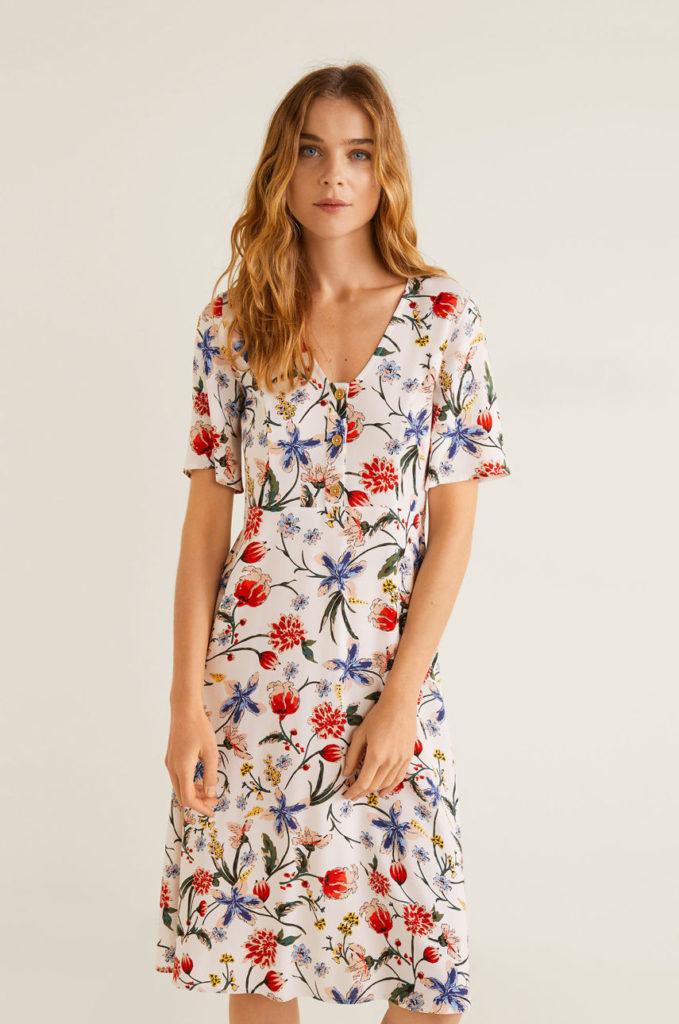 rochie cu flori mango