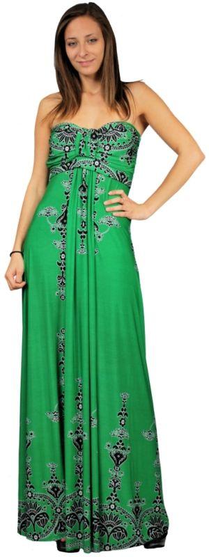 rochie maxi verde