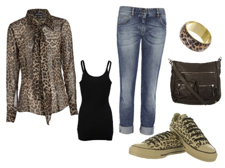 look casual -sport cu animal print