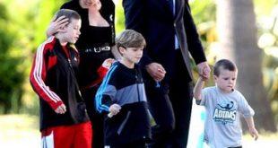 copii, baieti, David Beckham, Victoria Beckham, 2011