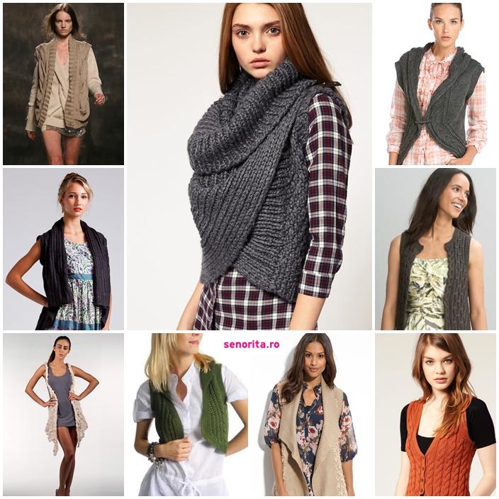 vesta tricotata casual