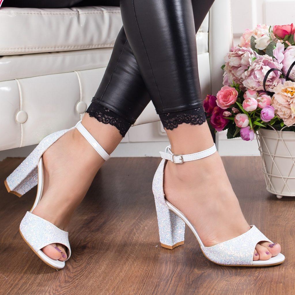 sandale mireasa cu sclipici