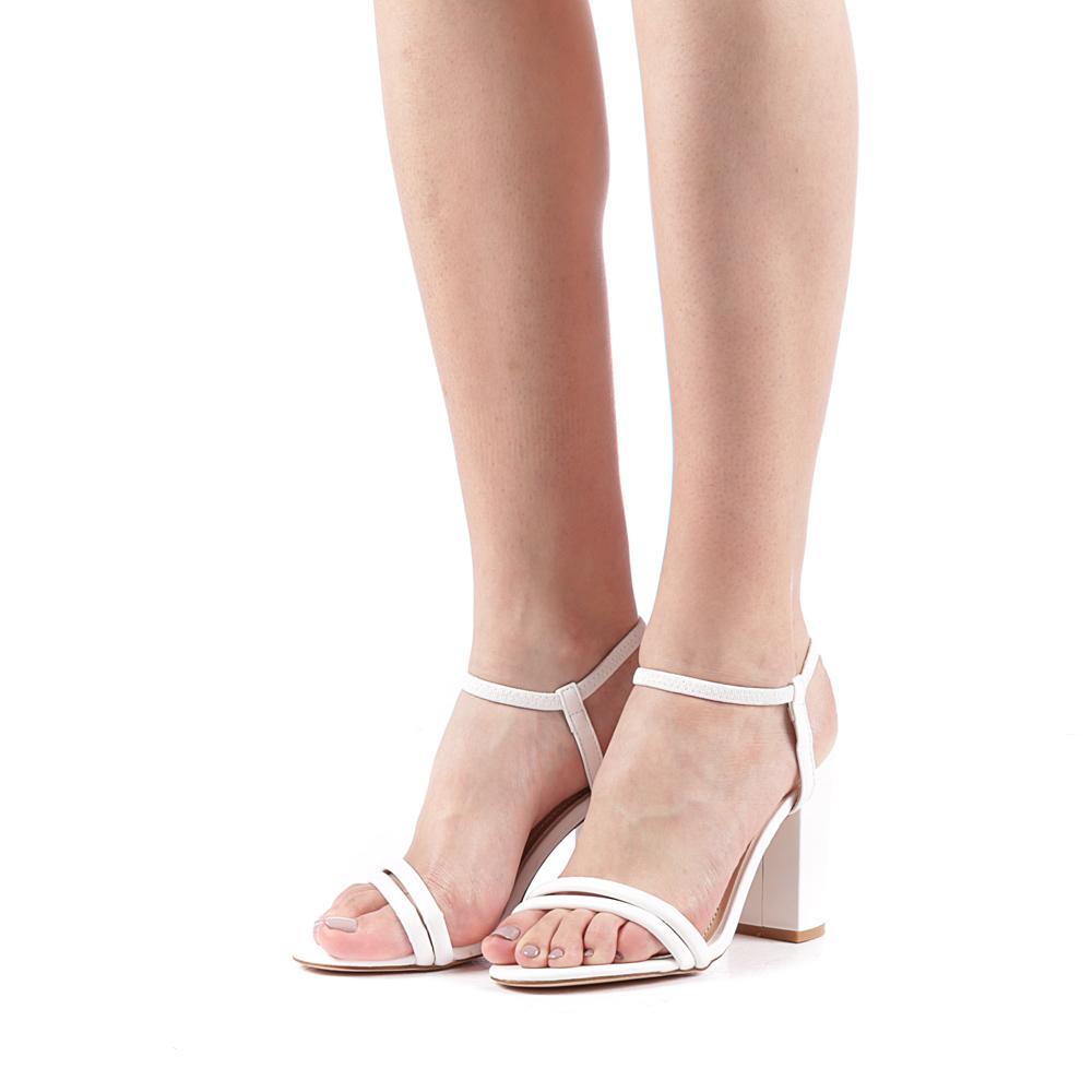 sandale simple albe nunta