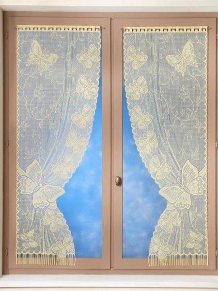 Set 2 draperii cu motiv fluturi