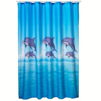 Perdea de dus cu delfini