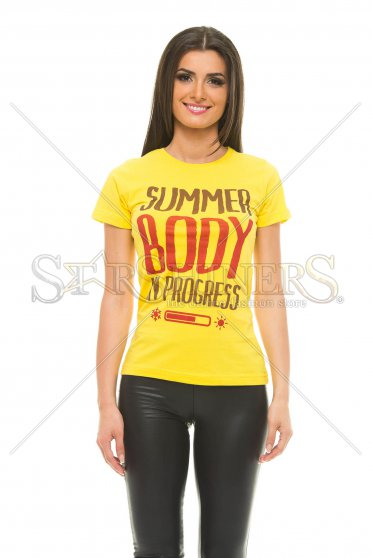 Tricou Summer Outfit Yellow