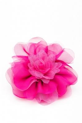 Floare supradimensionata fucsia Glamour - voal fucsia