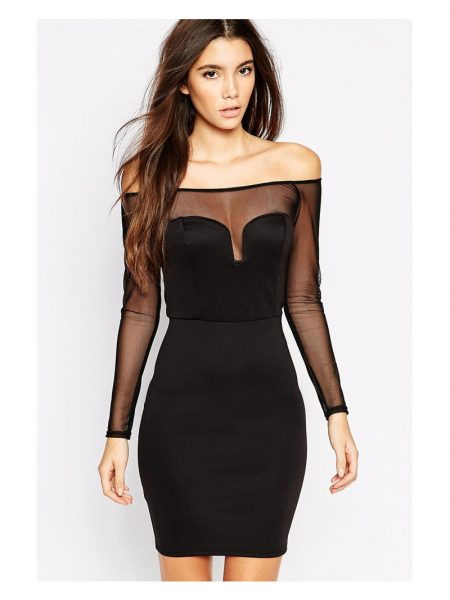 Rochie Black Off Shoulder