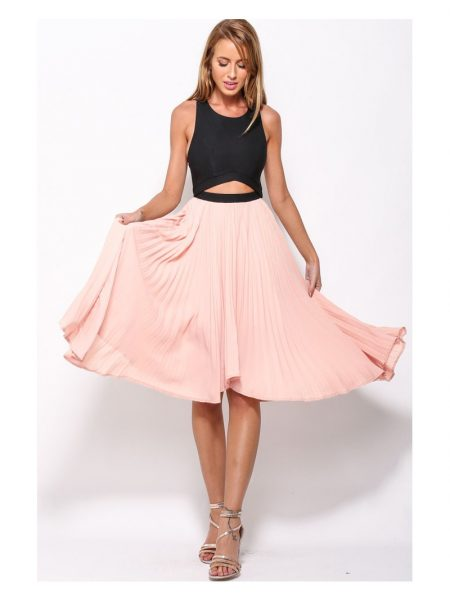 Rochie Pleated Pink