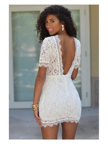 Rochie White Crochet