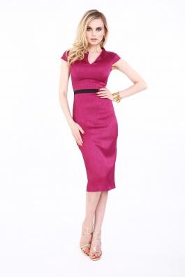 Rochie fuchsia Roserry midi eleganta