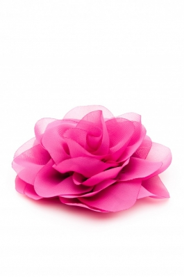 Trandafir mare din voal roz Summer Fairy - voal 10 - roz