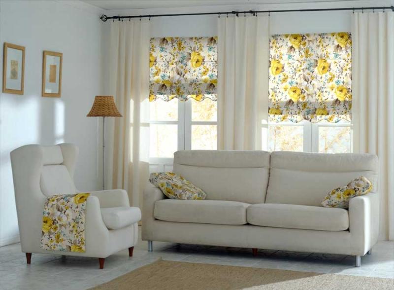 draperie florala despicata