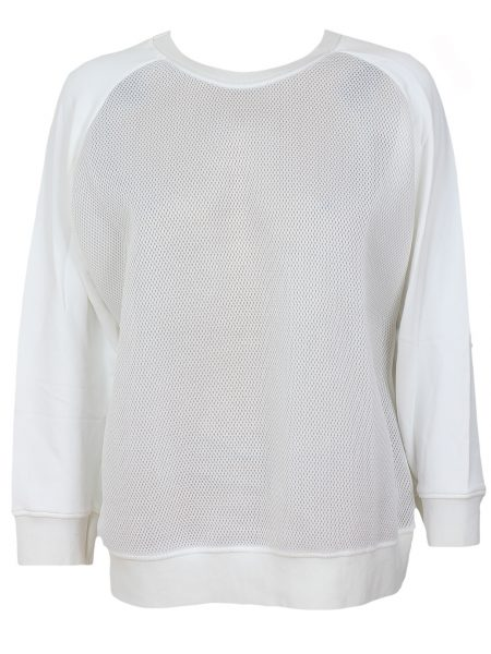 Bluza Pull and Bear Whis Culoare Alba
