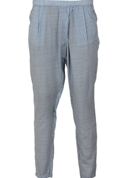 Pantaloni Pull and Bear Adrianne Culoare Albastra