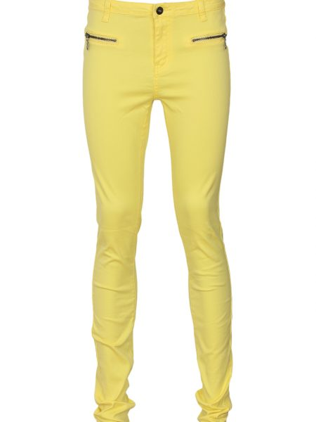 Pantaloni VILA Filter Yellow