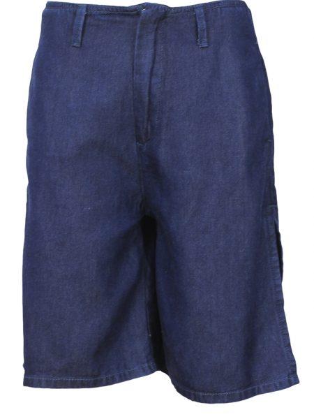 Pantaloni scurti Pull and Bear Collection Dark Culoare Albastra
