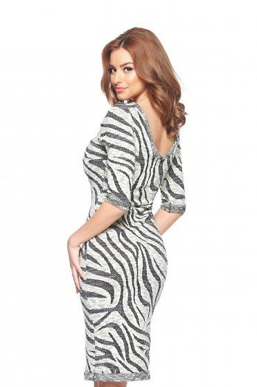 Rochie StarShinerS Zebra Grey