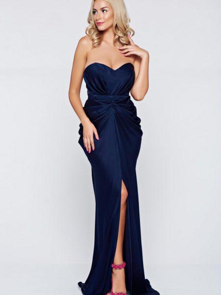 rochie lunga cu slit in fata