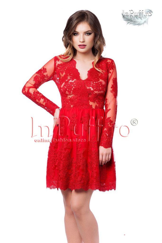 rochie-scurta-rosie-din-dantela1