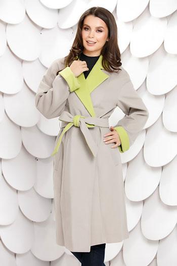 palton-gri-lung-cu-mansete-verzi