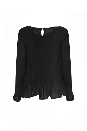 Bluza Brodata Theo Rose Delight Black -
