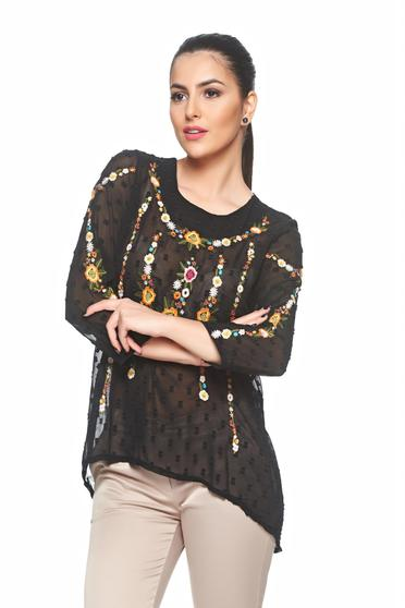 Bluza Floral View Black