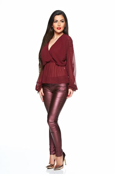 Bluza dama Daniella Cristea visinie eleganta din voal cu elastic in talie -