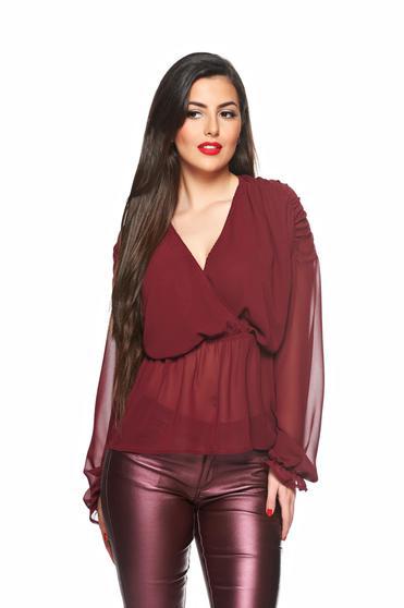 Bluza dama Daniella Cristea visinie eleganta din voal cu elastic in talie