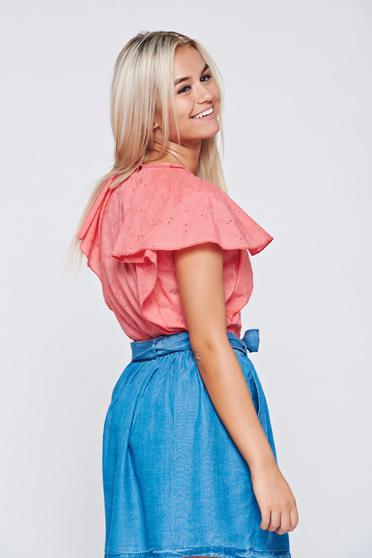 Bluza dama PrettyGirl croi casual cu croi larg din bumbac -