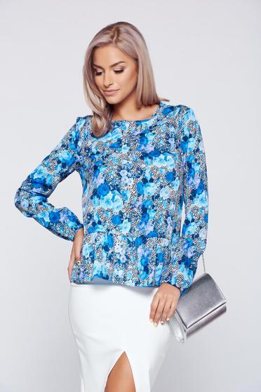 Bluza dama casual albastra