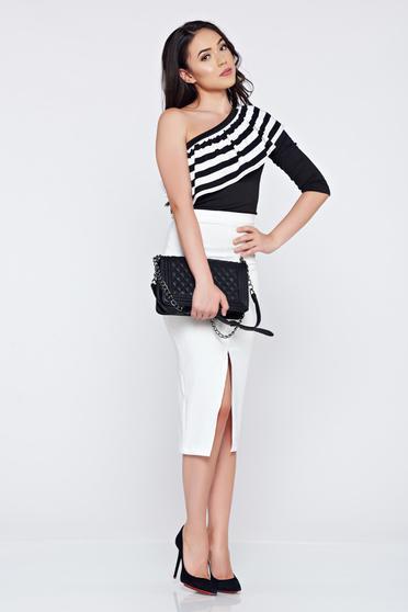 Bluza dama casual neagra  asimetrica