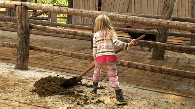 copil ajutand in viata la tara
