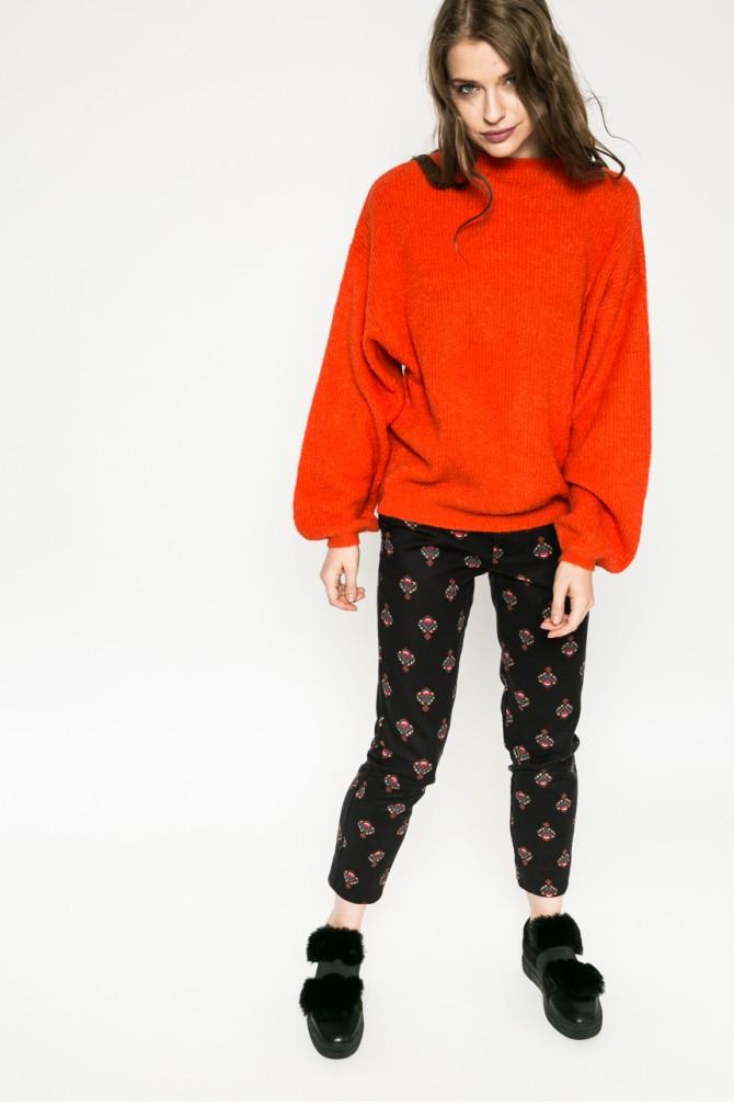 pulover tricotat portocaliu