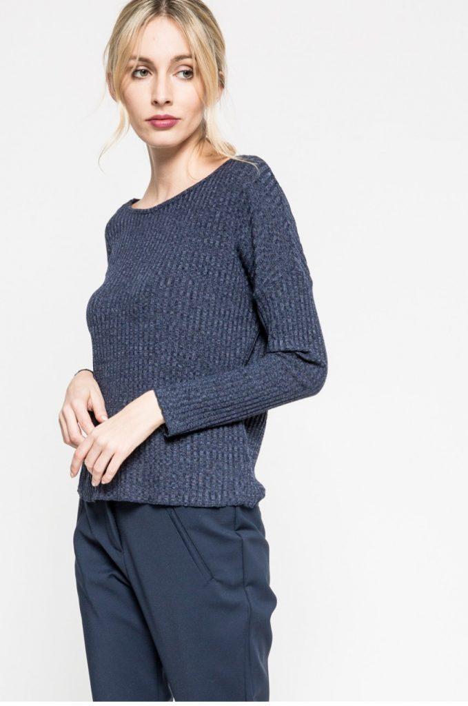 pulover tricotat bleumarin