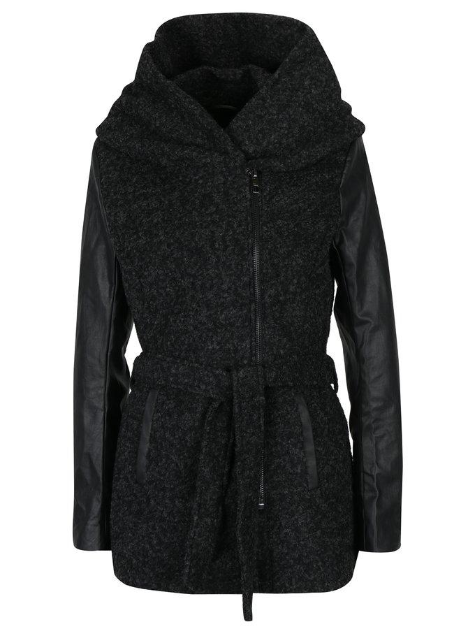 palton lana cu piele