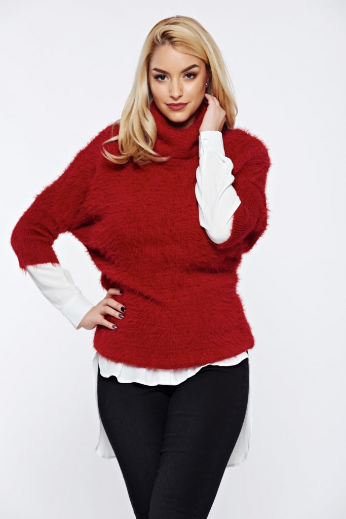 pulover rosu