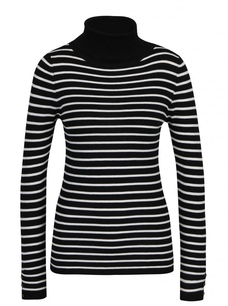 pulover tricotat cu dungi