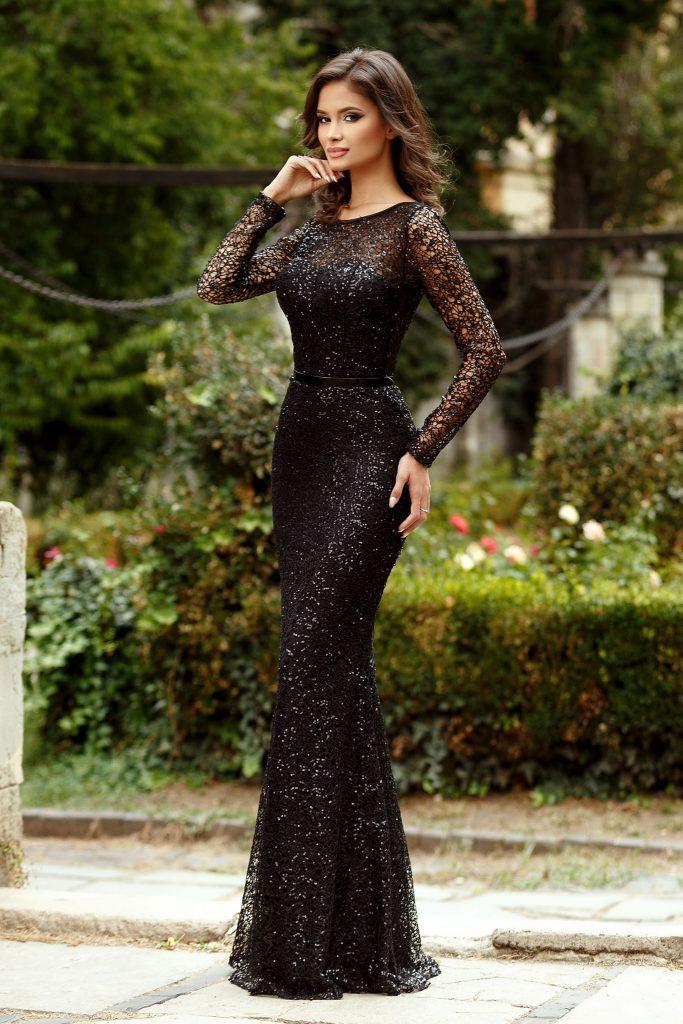 rochie lunga stralucitoare