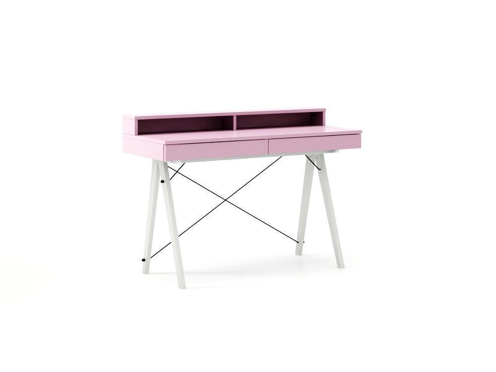 birou colorat roz