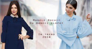 Modele de Rochii cu Maneci  Clopot 2018 - Recomandari Online