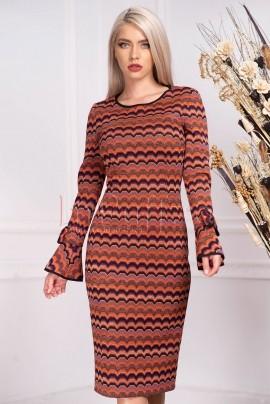 rochie pentru sezon rece in dungi